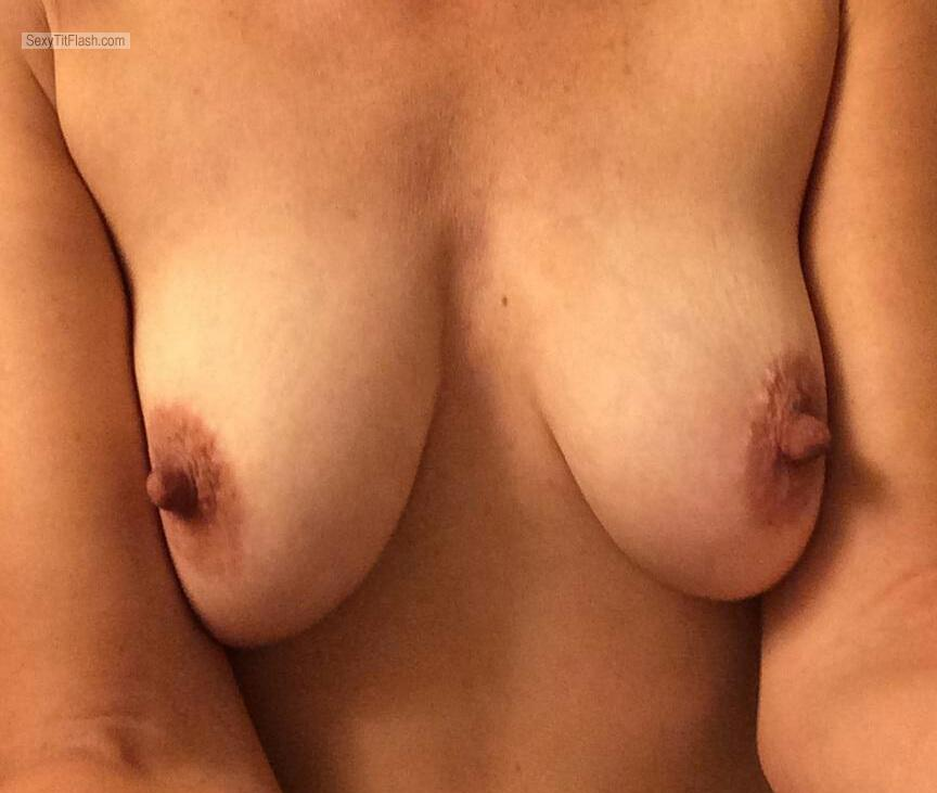 Tit Flash: My Small Tits (Selfie) - Handymandy from United States